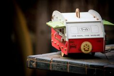 Marcus Williams and Sj Stone of One Man, One Garage have created wonderful Vintage Camper Birdhouse Kits that come ready to piece together and paint.