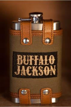Elkton Waxed Canvas and Leather Whiskey Trim Tracel Flask for the Rugged Gentleman - 6 oz.