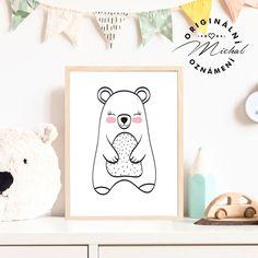 Stylový obrázek do dětského pokoje či spacího koutku v ložnici. Plakátky k sobě vzájemně ladí a lze jakkoli kombinovat a vytvářet si vlastní sety, díky čemuž Vám vzniknou krásné designové doplňky pro Vaše nejmenší. Tisk je zajištěn na profesionální tiskárně na kvalitní papír o vysoké gramáži 260 gms v bílé barvě. #dekorace #detskypokoj #pokojicek #deti #miminko #miminka Panda, Decals, Design, Home Decor, Tags, Decoration Home, Room Decor, Sticker