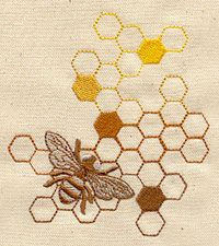 bee honey machine embroidery design -- for Casey