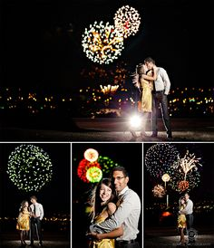 Canada Day Fireworks Engagement Photo- Pretty much the coolest thing ever!