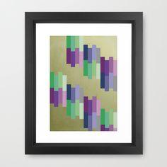 #Rectangles Design Framed Art #Print