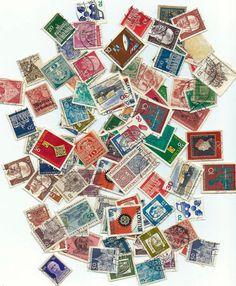 Vintage German Postage Stamps  Scrapbooking by BlueGrizzlePapers, $2.00