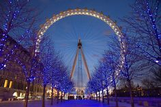 Awesome shot of the London Eye!