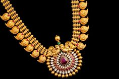 Traditional Mango Necklace - Indian Jewellery Designs South Jewellery