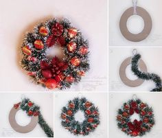 Christmas wreath made of sweets