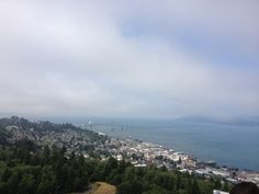 Looking north from the Astoria Column, Astoria, Oregon, in warm and sunny August.