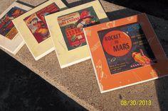 vintage childrens record plaques