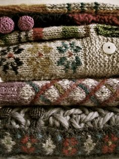 A stack of beautiful knits