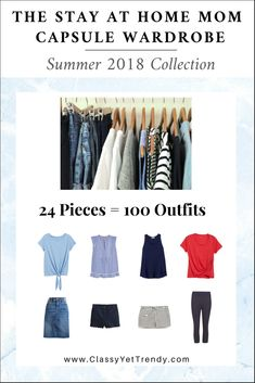 STAY AT HOME MOM Capsule Wardrobe Summer 2018