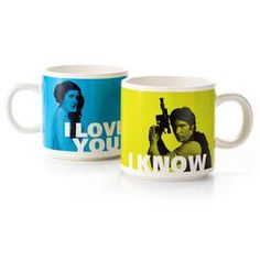 Han Solo™ and Princess Leia™ Stacking Mug Set,