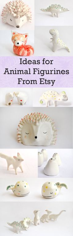 Clay | Ideas | Animal | Figurines | Crafts | Clay Dinosaur | Fox