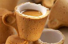 Volledig eetbaar kopje koffie! Milieuvriendelijk want er blijft geen afval achter.