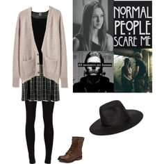 Violet Harmon Inspired Outfit #3 by grunge-girl15 on Polyvore featuring polyvore, fashion, style, La Garçonne Moderne, Vero Moda, Majestic Filatures, Roxy and ASOS