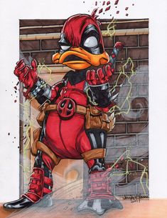#Deadpool #Fan #Art. (It's QUACKTACULAR Deadpool) By: SunsetRising-Art. (THE * 5 * STÅR * ÅWARD * OF: * AW YEAH, IT'S MAJOR ÅWESOMENESS!!!™)[THANK U 4 PINNING!!!<·><]<©>ÅÅÅ+(OB4E)