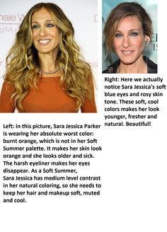 Soft Summer color analysis.