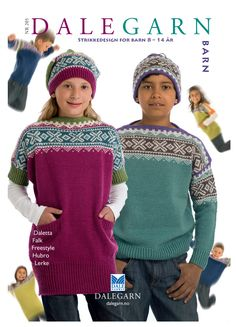 Strikkedesign for barn år Knit Patterns, Christmas Sweaters, Winter Hats, Crochet Hats, Fair Isles, Knitting, Children, Boys, Norway