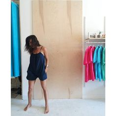 Easy like Sunday evening  Garment dye seersucker romper 100% Cotton 100% Made in NYC ✌️+❤️ OFF SEASON