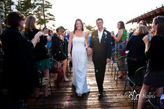 wedding ceremony pictures at Sunspot in Winterpark Denver wedding photographer