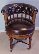 09752r2 antique leather desk chair victorian swivel desk chair london circa 1890 antique leather swivel desk chair