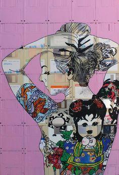 "Saatchi Art Artist andrea boriani; Painting, ""Suicide girl pink"" #art"