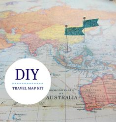 DIY Travel World Map   Pin where you've been or where you'd like to travel to next around the world.