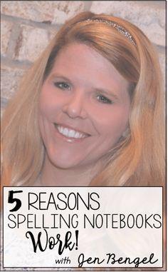 5 Reasons Spelling Notebooks Work