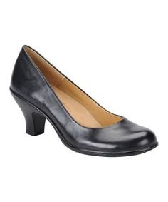 Take a look at this Black Salude Pump by Softspots on #zulily today!
