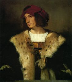 "hotguysinoldart: ""Titian, Portrait of a Man in a Red Cap, 1516. Oil on canvas…"