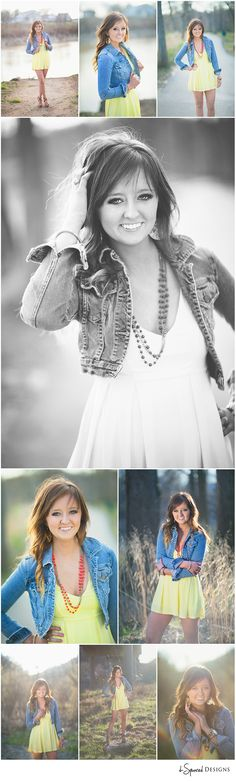 d-Squared Designs Missouri Senior Photography. Spring. Senior girl. Posing. Dress with jean jacket.