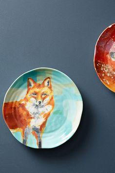 Slide View: 1: Winter Fauna Dessert Plate