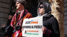Comunidad Palestina se manifestó en Santiago Chile.
