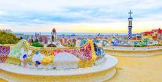 Parque #Güell #Gaudi  a todo color  #Barcelona   totart.cat  #emmarquemlatevavida