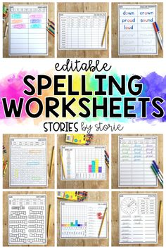 Are you falling into a spelling rut? These low-prep editable spelling worksheets help students practice their words in a fun and engaging way! Spelling Word Activities, Spelling Word Practice, 3rd Grade Spelling, Spelling Centers, Spelling Worksheets, Spelling Lists, Spelling Words, Teaching Activities, Calendar Worksheets