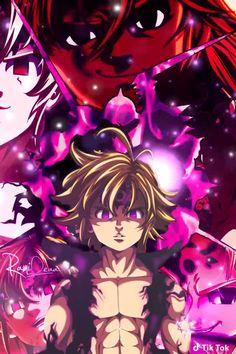 nanatsu no taizai Seven Deadly Sins Anime, 7 Deadly Sins, Otaku Anime, Manga Anime, Meliodas Vs, Demon King Anime, Meliodas And Elizabeth, 7 Sins, Seven Deady Sins