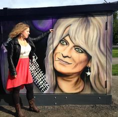Michael Monroe! One of the greatest rock Legends of Finland! The official opening of the area is 25.8. come and see the rest of the 8 paintings I did for @cityofoulu at Kuusisaari! Thanks for @oulunkatutaide and everyone who helped during this commission. ❤️#michaelmonroe #oulu #qstock #mural #aerosolart #portrait #realism #magicalrealism #streetarteverywhere #custom #painting #art #rock #lilac #purple #birthdayatwork #lovingthislife #katutaide #seinämaalaus #muraali