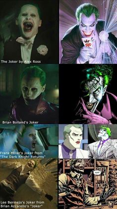 Jared Leto looks like he will play most of the Joker's personalities unlike past actors