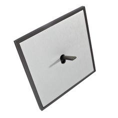 5.1 Silver Anodized Aluminium - Toggle switch with silver anodized aluminium plate & graphite frame  - Interruptor de manecilla con placa de aluminio plata anodizado y marco grafito - Interrupteur à levier avec plaque en aluminium argent anodysé et cadre graphite - Interrupteur à levier avec