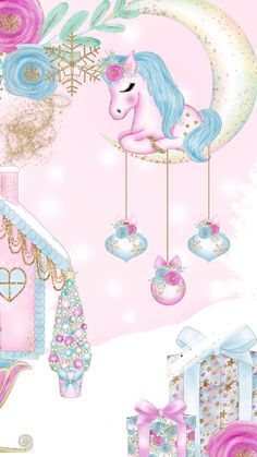 Ideas Baby Pictures Winter Xmas For 2019 Unicorn Backgrounds, Cute Wallpaper Backgrounds, Pretty Wallpapers, Winter Backgrounds, Unicorn Drawing, Unicorn Art, Cute Unicorn, Unicorn Wallpaper Cute, Unicornios Wallpaper