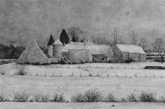 Farm in winter von Albert Drachkovitch