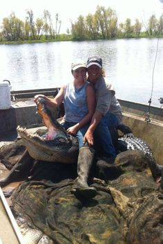 Real Girls Go fishin' for alligators!  Liz & Jessica on Jess's last day of the season. From the hit tv show Swamp People on the History channel.