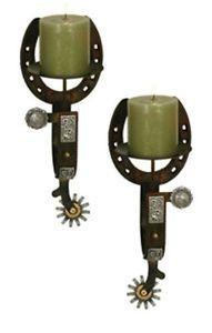 Horseshoe/spur candle sconces