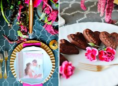 Get inspiration for romantic gatherings from this Valentine's Day dinner for two featuring a personalized Valentine card.