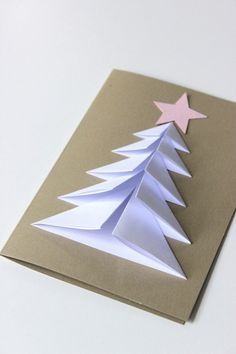 Diy christmas cards 1688918599161617 - Mr Gift: Ten cute Christmas Tree gift cards Source by wonsunhee Christmas Tree With Gifts, Diy Christmas Cards, Noel Christmas, Handmade Christmas, Christmas Decorations, Origami Christmas Tree Card, Origami Tree, Origami Xmas Cards, Simple Christmas