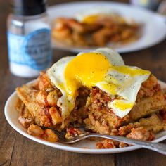 can I eat this?  Now?  No.  no waffle iron.  will have to wait.  cornbread waffles with chili and egg