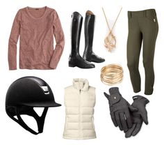 """""""Schooling Days - Winter"""" by caprihart ❤ liked on Polyvore featuring The North Face, J.Crew, Roeckl and Shaun Leane"""