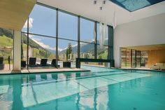 Indoor swimming pool @ A & L Wellnessresort #Italy #Spa