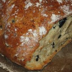 Mediterranean Black Olive Bread Allrecipes.com