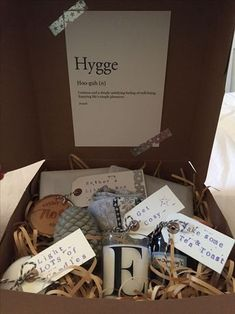 Give the gift of Hygge to others. Include all the essentials to live a cozy and happy life.