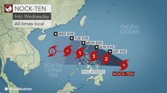 Strengthening Typhoon Nock-ten threatens lives, property in the Philippines on Christmas. Looks like a #Christmas day #typhoon for the #Philippines. Possible Category 3 strength with heavy rain. Prepare! Stay safe and dry! #NinaPH #Pasko